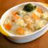 súp shichuu khoai tây, cà rốt và brocolli